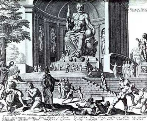 7 maravillas del Mundo Estatua de Zeus