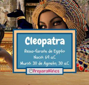 Cleopatra para niños