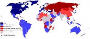 Mapa de la guerra fria