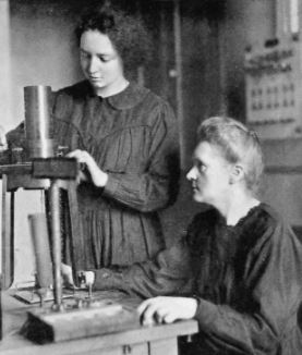 Marie Curie y su hija Irene