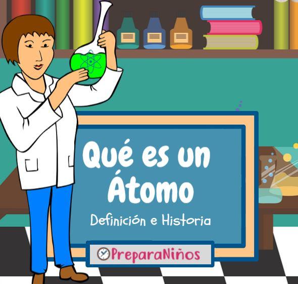 Que es un átomo para niños