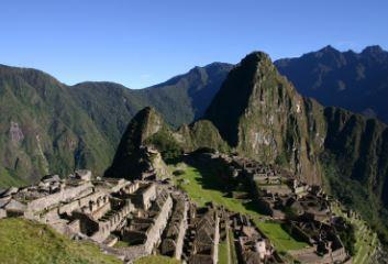Ruinas de Machu Picchu en los Andes