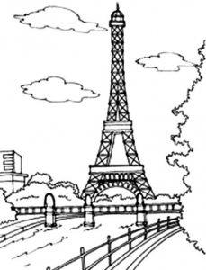 Torre Eiffel para colorear niños