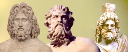 Zeus Hades y Poseidon