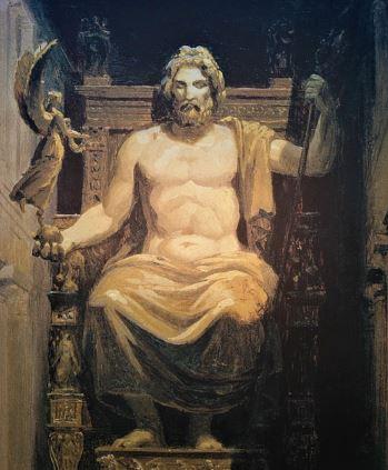 Zeus. Dioses del olimpo