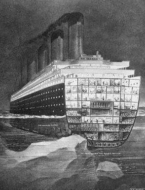 El Titanic y el Iceberg