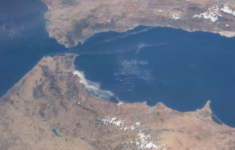 Estrecho de Gibraltar Vista Aerea