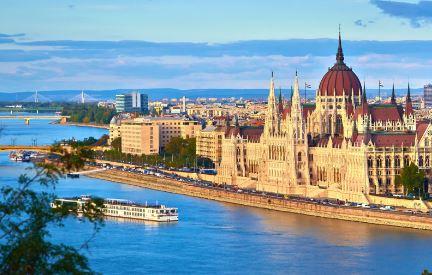 Parlamento de Hungria Rio Danubio