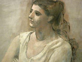 Picasso Mujer en Blanco