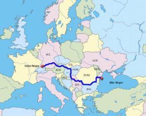 Rio Danubio Mapa