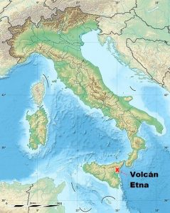 Ubicacion Volcán Etna