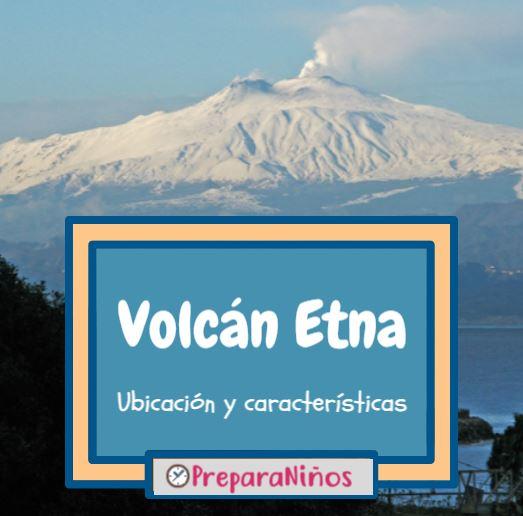 Volcan Etna para niños