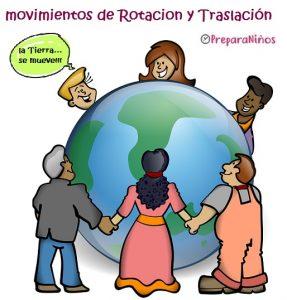 Planeta Tierra para Niños: Movimientos de rotación y traslación de la Tierra