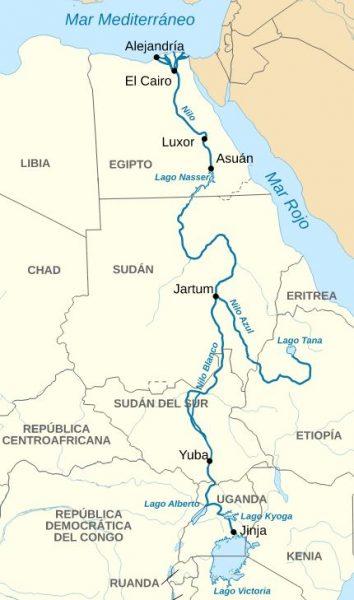 Mapa del Rio Nilo