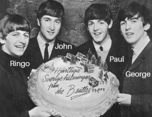 Los Beatles con sus nombres