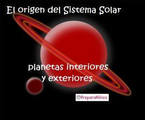 Origen del sistema solar para niños
