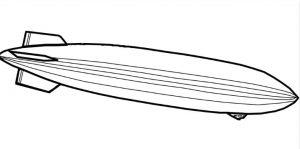 Dibujo de zepelin para colorear
