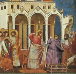 Jesus expulsa a los mercaderes