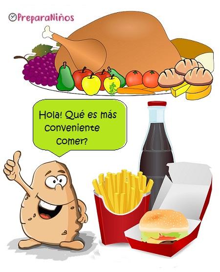 Alimentos saludables Explicación para Niños de Primaria