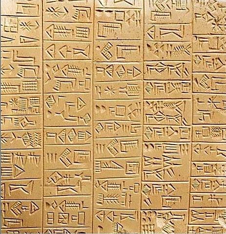 Tablilla escrita en cuneiforme: Historia de la escritura para niños de primaria