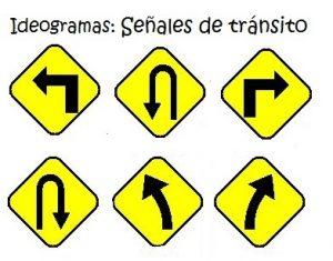 Origen de la escritura para niños: señales de tránsito ideogramas