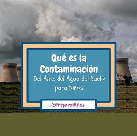 La Contaminación del Aire, Agua y Suelo para Niños de Primaria