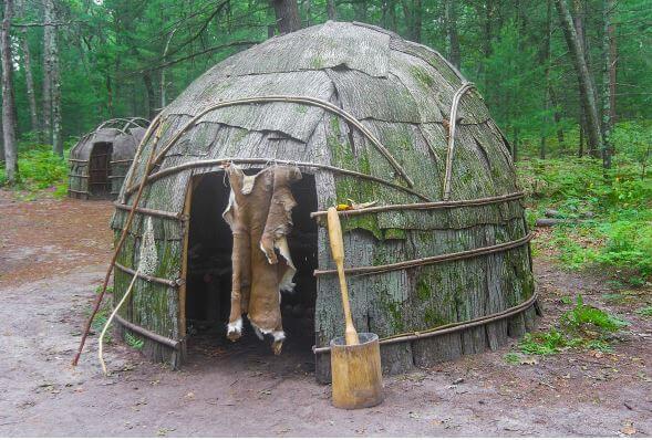 Casas de los indios americanos