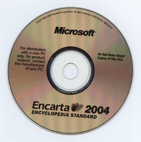 Microsoft Encarta es una enciclopedia en CD Rom