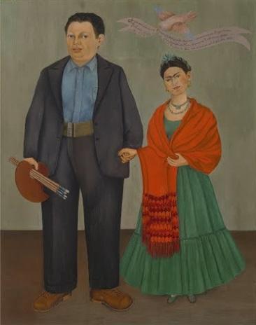 Cuadros de Frida Kahlo: Frida y Diego Rivera